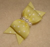"Pastel Yellow Swiss Dot 5/8""-Baby, Yellow, Pastel Yellow, Pearl, Silver, Gold, White"