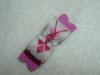 Tiny Beige & Magenta Pink Argyle 3/8