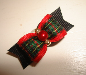 "Plaid is Bad 5/8""-Plaid, 5/8, Red, Christmas, Xmas, Preppy, Holiday, Gold, Green, Boy"