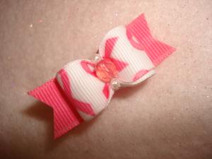 "Breast Cancer Awareness 5/8""-Pink, Breast, Cancer, Awareness, November, Bow, Dog, Ribbon,"