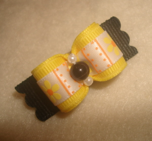 "Buzzy Bee Flowers 5/8""-Black, Yellow, Summertime, Summer, Orange, Daisy, Flowers,"