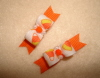 "Tiny Candy Corn 3/8""-Orange, Yellow, Halloween, Fall, Candy Corn, White"