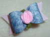Denim with Ribbon Rose 5/8