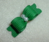 "Tiny Emerald Grosgrain 3/8""-3/8, 3/8"