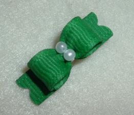"Tiny Emerald Grosgrain 3/8""-3/8, 3/8"