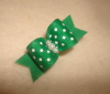 Emerald Green Swiss Dot 5/8