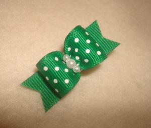 "Emerald Green Swiss Dot 5/8""-Emerald, Green, Swiss, Dot, Polka, White. Pearls, Holiday, Xmas, Christmas, St., Patricks, Pattys"