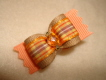"Just Peachy Fall Plaid 5/8""-Halloween, Fall, Plaid, Peach, Tan, Boy, Boys, Cats Eye, Preppy,"