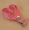 Girls Bows - Heart Barrette Bow-Girl, Barrette, Heart, Pink, Rhinestone, Valentines, Valentine, Clip, Girls