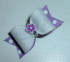"Girly Flower Power 5/8""-Lavender, Orchid, Flower, White, Silver, Easter, Spring, Grosgrain, Swiss Dot, Purple"