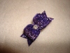 "Glitter Purple 5/8""-Glitter, bow, dog, puppy, yorkie, maltese, glitzy, red, blue, emerald, fucshia, pink, purple, rhinestone, sparkle, fancy, glamour"
