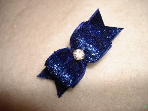 """Glitter Royal Blue 5/8""""-Glitter, bow, dog, puppy, yorkie, maltese, glitzy, red, blue, emerald, fucshia, pink, purple, rhinestone, sparkle, fancy, glamour"""