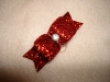 "Glitter Ruby Red 5/8""-Glitter, bow, dog, puppy, yorkie, maltese, glitzy, red, blue, emerald, fucshia, pink,rhinestone, sparkle, fancy, glamour"