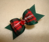 "Holiday Plaid 5/8""-Navy, Plaid, Christmas, Red, Green, Gold, Stripe, Beads, Rhinestone, Emerald, 5/8"