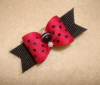 "Hot Pink & Black Swiss Dot 5/8""-Hot Pink, Magenta, Black, Black Dot, 5/8"