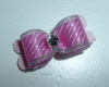 "Tiny Jacquelyn Pink & Silver 3/8""-Pink, Silver, Rhinestone, 3/8"