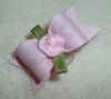 "Baby Pink Ribbon Rose 5/8""-"