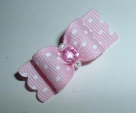 "Diva Pink Dot Crystal 5/8""-Diva, Pink, Swiss Dot, Crystal, Baby Pink, Glamourous, glamorous, elegant, classy"