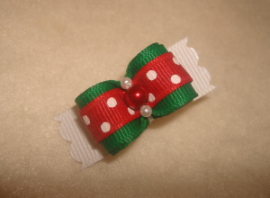 "Mrs. Claus 5/8""-Red, Green, Emerald, swiss, dot, holiday, xmas, christmas,"