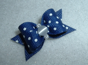 "Navy Blue Swiss Dot 5/8""-Boy, Blue, Navy, Swiss, Dot"