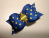 Navy with Yellow Swiss Dot 5/8