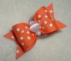 "Orange Swiss Dot 5/8""-Orange, Swiss Dot, Cats Eye, White, Halloween, 5/8"