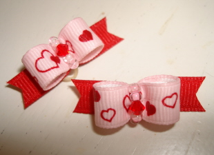 "Tiny Baby Pink & Red Valentines 3/8""-"