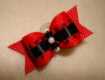 "Red with Black Satin Picot 5/8""-"