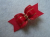 "Red Classic Show Bow 5/8""-Red, Gold, Rhinestone, 5/8"
