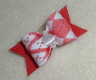 "Red & White Argyle 5/8""-Red, White, Plaid, Argyle, Boy, Boys, Christmas, Valentines, Day, Pearl, Cats, Eye"