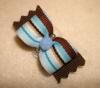 "Preppy Blue & Brown Stripe 5/8""-"