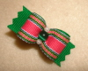 "Emerald & Hot Pink Stripe 5/8""-"