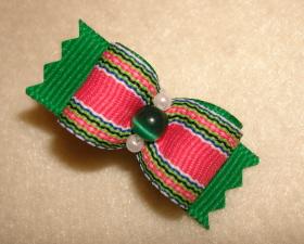 """Emerald & Hot Pink Stripe 5/8""""-"""