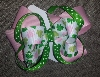 Girls Bows - St. Patty's Stacked Boutique Girls Bow-Girls, Boutique, Apple Green, Dot, Hairbow, Stacked, Layers, Tulle, OTT