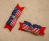 "Tiny Stars & Stripes 3/8""-Stars & Stripes, Pair, Ear Bows, Pig Tails, 3/8"