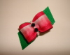 "Juicy Watermelon Slice  5/8"" Bow-Shocking Pink, Emerald, Green, Pink, Watermelon, Jet Black, Swarovski, Hot Pink"