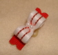 "Tiny White & Red Accented Satin 3/8""-3/8"
