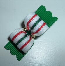 "Christmas Ribbon Candy 5/8""-Christmas, Red, Green, Gold, Stripe, Beads, Rhinestone, Emerald, 5/8"